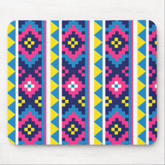 sand_and_beach AZTEC PATTERN BRIGHT COLORFUL SUMME Mouse Pads