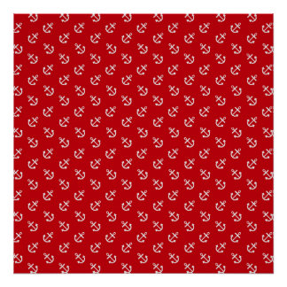 sand-and-beach_paper_anchors-red RED WHITE ANCHORS Posters