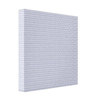 sand-and-beach_paper_chevron BLUE WHITE ZIGZAG PAT Gallery Wrap Canvas