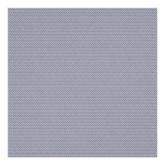 sand-and-beach_paper_chevron BLUE WHITE ZIGZAG PAT Posters