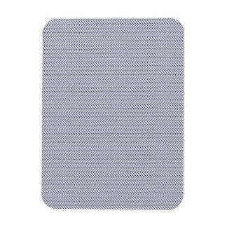 sand-and-beach_paper_chevron BLUE WHITE ZIGZAG PAT Rectangular Magnet