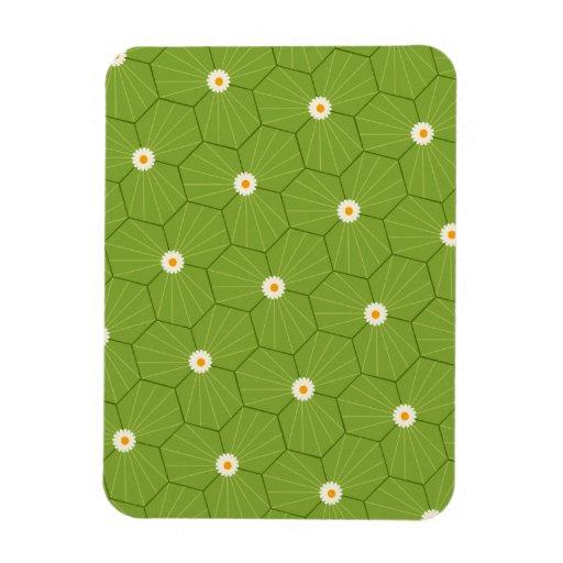 sand-and-beach_paper_geometrical-leaves GREEN LEAV Flexible Magnets
