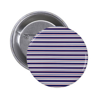 sand-and-beach_paper_stripes BLUE WHITE NAVY STRIP Pinback Button