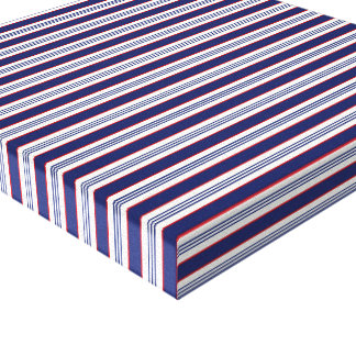 sand-and-beach_paper_stripes BLUE WHITE NAVY STRIP Canvas Prints