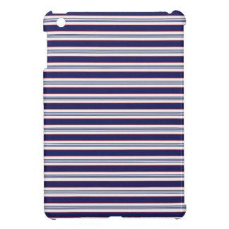 sand-and-beach_paper_stripes BLUE WHITE NAVY STRIP iPad Mini Cover