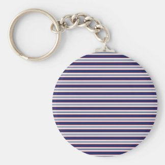 sand-and-beach_paper_stripes BLUE WHITE NAVY STRIP Key Chains