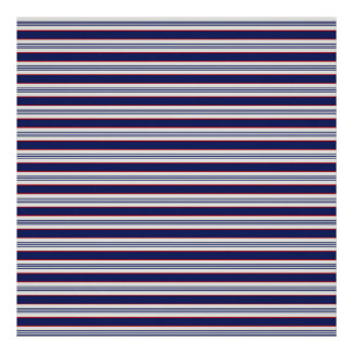 sand-and-beach_paper_stripes BLUE WHITE NAVY STRIP Poster