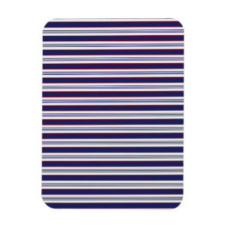 sand-and-beach_paper_stripes BLUE WHITE NAVY STRIP Magnet