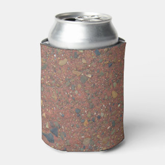 Sand and pebbles photo can cooler