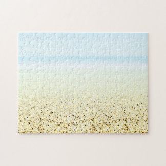 SAND AND SEA Serene Summer Seascape Jigsaw Puzzle