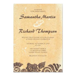 Sand and Sea Shells/Beach Wedding Invitation