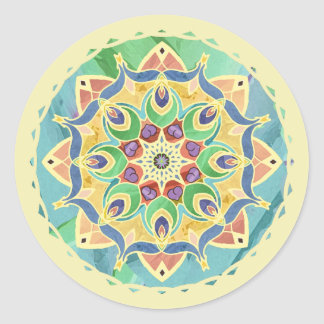 Sand and Silk Peace Pastel Mandala Sticker
