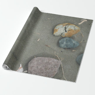 sand and stones of beach wrapping paper