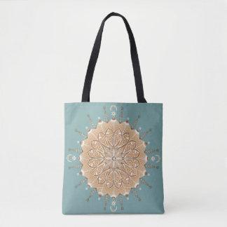 Sand and Turquoise Mandala Bag