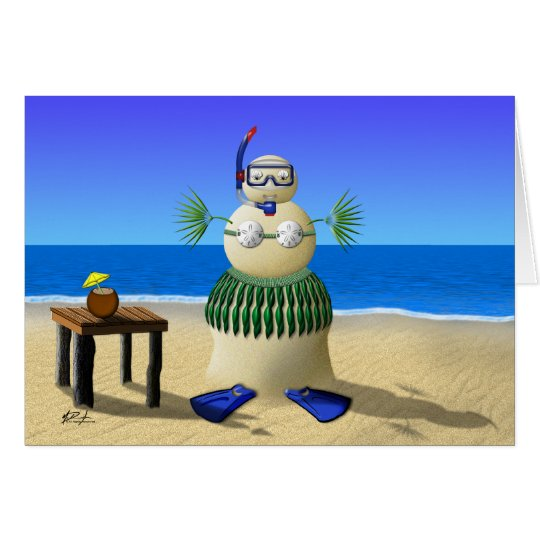 Sand Babe Holiday Greeting Card