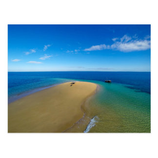 Sand Bar And Dhow | Ibo Island, Mozambique Postcard