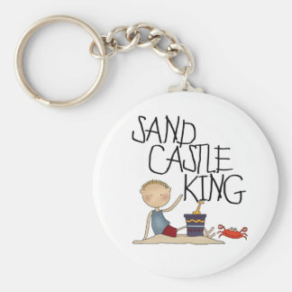 SAND CASTLE KING BASIC ROUND BUTTON KEY RING