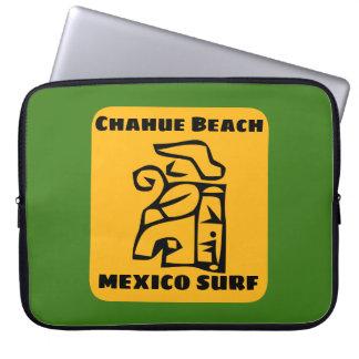 Sand Chahue Beach Surf Laptop Sleeve