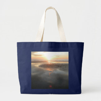 Sand Circle at Sunset Jumbo Tote