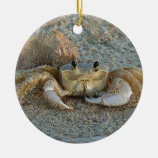 Sand Crab Ceramic Ornament