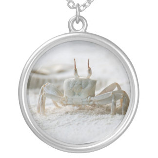 Sand crab silver plated necklace