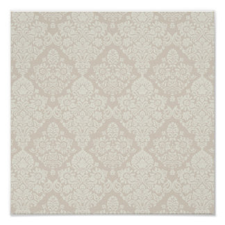 Sand Delicate Floral Swirl Poster