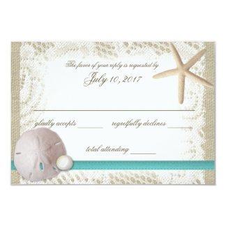Sand Dollar and Pearl Response Card