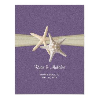 Sand Dollar and Starfish Reception Card