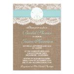 Sand Dollar Beach Bridal Shower - Turquoise 13 Cm X 18 Cm Invitation Card