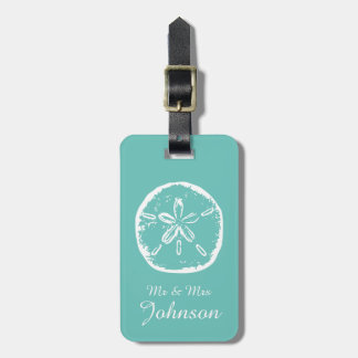 Sand dollar beach destination travel luggage tags