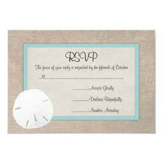 Sand Dollar Beach Wedding RSVP card