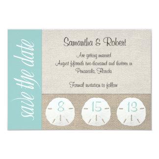 Sand Dollar Beach Wedding Save the Date 9 Cm X 13 Cm Invitation Card