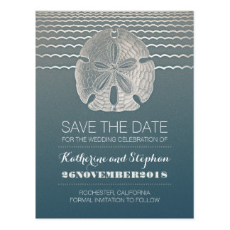 Sand Dollar Beach Wedding Save The Date Porstcards Postcard