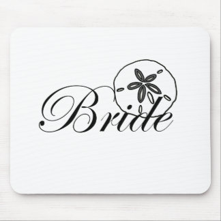 Sand Dollar Bride Mouse Pads