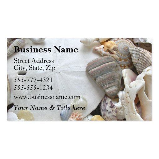 Sand Dollar Business Card