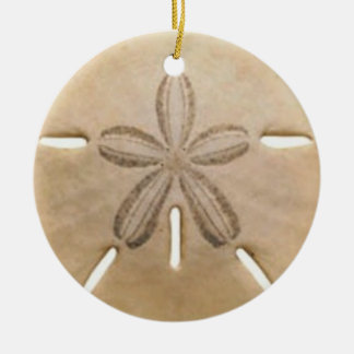 Sand dollar ceramic ornament