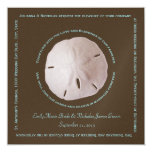Sand Dollar Cube Text Design Wedding Personalised Invitation