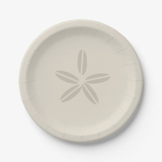 Sand Dollar Paper Plate