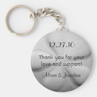 Sand Dollar Personalised Key Ring Wedding Favour