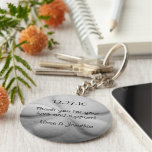 Sand Dollar Personalised Key Ring Wedding Favour Basic Round Button Key Ring