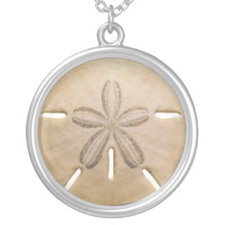 sand dollar silver plated necklace