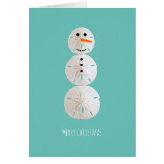 Sand Dollar Snowman Card