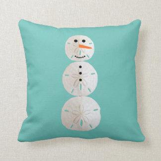 Sand Dollar Snowman Cushion