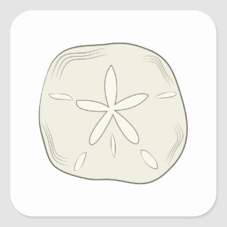 Sand Dollar Square Sticker