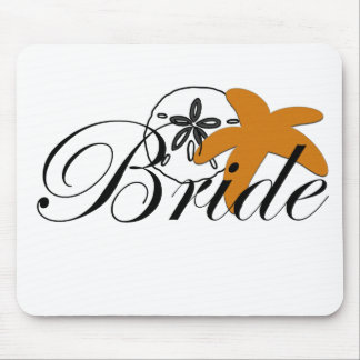 Sand Dollar Starfish Bride Mouse Pad