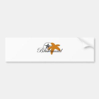 Sand Dollar Starfish Bridesmaid Bumper Sticker