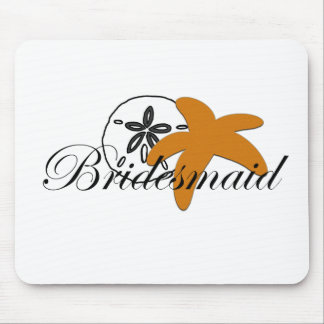 Sand Dollar Starfish Bridesmaid Mouse Pads