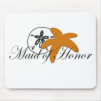 Sand Dollar Starfish Maid of Honor Mouse Pads