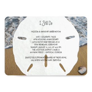 Sand Dollar Wedding Anniversary Vows Invitation
