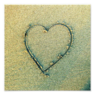 Sand Drawing Heart Photo